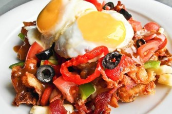 "Poutineville Does ""Build Your Own Brunch Poutine"" With Eggs & Bacon"