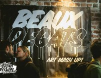 "At ""Beaux Dégâts"" Montrealers Vote For Their Favorite Murals With Empty Pabsts Beer Cans"