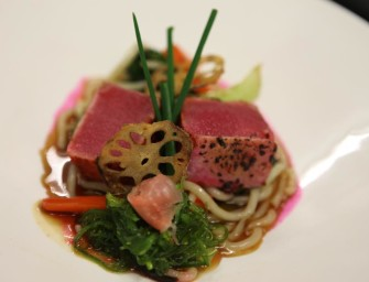 Montreal's Chef Scott Geiring Does Torched Cotton Candy Tuna