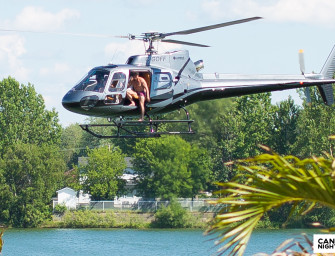 Dan Bilzerian Dove Head First From The Helicopter Bringing Him To Beachclub (Video)
